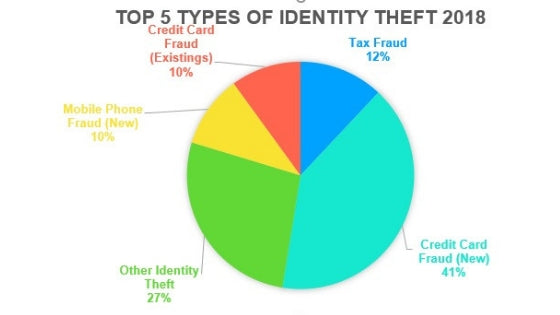top 5 types of identity theft in 2018