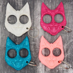 Hiss and Hurt Self-Defense Cat Keychains main 4 colors