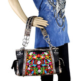MW264G-8085-1005-NY montana west concealed carry purse floral embroidered gun handbag