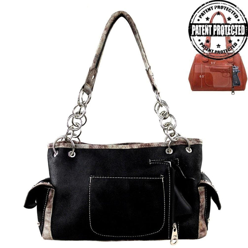 Montana West Handgun Purses Montana West® Bright Embroidered & Bling Concealed Carry Shoulder Strap Purse