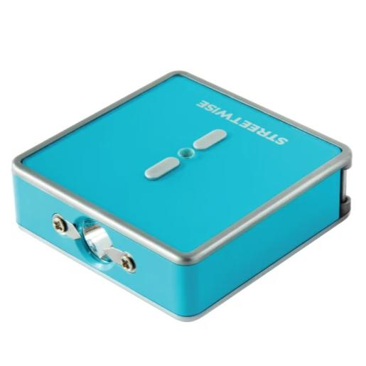 Square Off 26,000,000 Keychain Stun Gun flashlight TEAL main