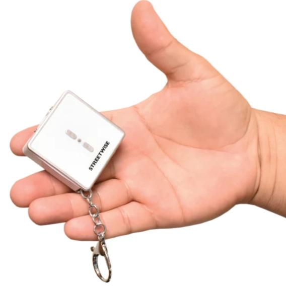 Square Off 26,000,000 White Stun Gun flashlight keychain compact size