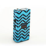 defense divas 25 million volt blue chevron stun gun flashlight womens taser self defense weapon