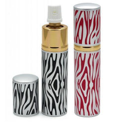defense divas black or pink and silver zebra lipstick pepper spray self defense mace