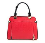 defense divas cameleon eos leather concealed carry handbag gun purse ccw rear view red