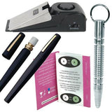 defense divas campus safety package deal door alarm pepper spray pen self defense key ring date rape drink testers