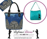 defense divas concealed carry gun purse denim jean bonus wallet