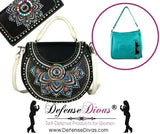 defense divas concealed carry gun purse multi color beaded bonus wallet
