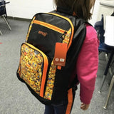 defense divas emoji smiley bulletproof backpack kevlar bookbag child school safety bullet shield EBBO on model 2