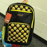 defense divas emoji smiley bulletproof backpack kevlar bookbag child school safety bullet shield EBBY on model 2
