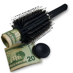 defense divas hair brush diversion safe hide valuables in plain sight campus safety product