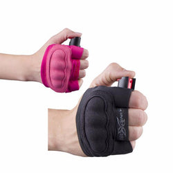 defense divas instafire pink pepper spray jogging mace glove pepper spray glove
