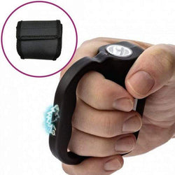 defense divas jolt protector stun gun 60 mil volt taser self defense sting ring black nylon holster