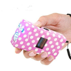 defense divas monster pink polka dot stun gun flashlight womens pink taser self defense weapon