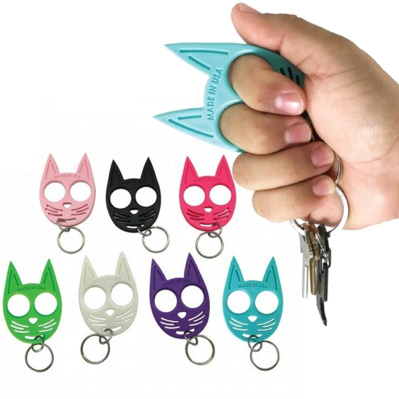 Ninja Kitty Self Defense Keychain Ring Impact Weapon Defense Divas