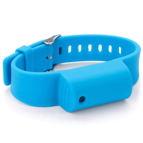 defense divas pepper spray bracelet little viper mace wrist band blue