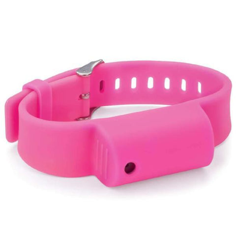 defense divas pepper spray bracelet little viper mace wrist band pink