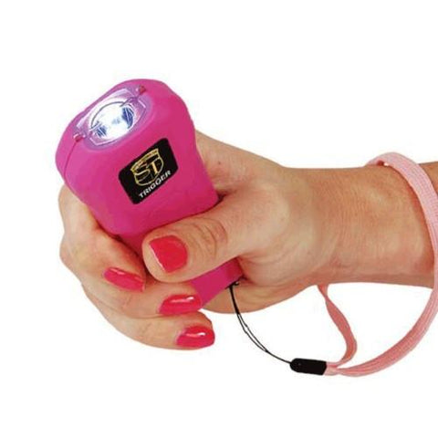 defense divas pink trigger stun gun flashlight self defense taser hand position