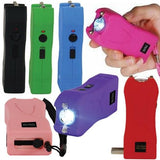 defense divas runt stun gun flashlight 20 million volts 7 color choices