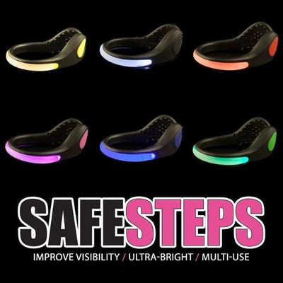 Safe Steps LED Clip On Shoe Lights for Runners Active Lifestyle Safety