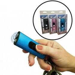 defense divas womens self defense usb blue black pink  stun gun taser key chain 3 colors