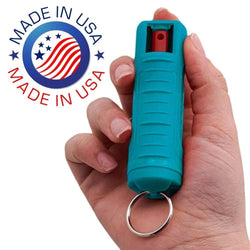 defense divas turquoise  made in USA Police-Strength-OC-17-Magnum-Pepper-Spray-Teal