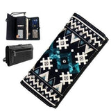 mw456-w002-1005-bk tribal collection wallet secretary style
