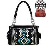 mw456G-8085 concealed carry gun purse tribal collection front view