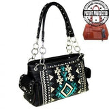 mw456G-8085 concealed carry gun purse tribal collection two side pockets