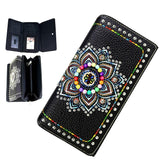 mw523-w010-1005-bk-muti color beaded matching wallet montana west concho tri fold view