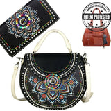 mw523g-8101-1005-bk-muti_1 brightly beaded concealed carry gun purse matching wallet set firearm handbag