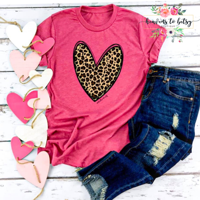 Leopard Lover Hot Pink Tee