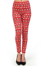 "full- length one size- Women's 0-14 and plus size- women's 14-20 mix print fair isle christmas print leggings are so soft, stretchy, lightweight, and have a 1"" inch waistband. smooth fabric, 92% Nylon 8% spandex"