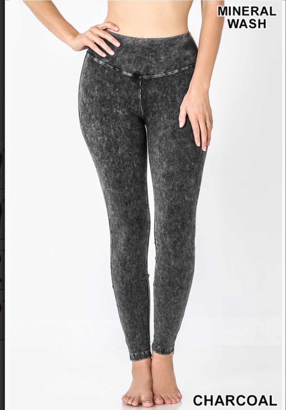 Mineral Wash Yoga Athleisure Pants