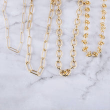Chunky gold love knot chain linked necklace