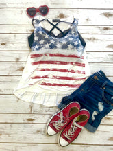 Patriotic 4th of July Flag Tank