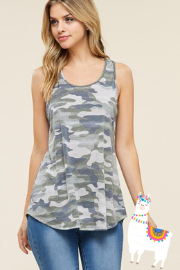 Olive Camo Tank Top