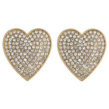 Rhinestone Heart stud Earrings
