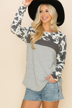 Cute Cow Print Crew Neck Long Sleeve