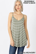 Reversible Striped Tank Top