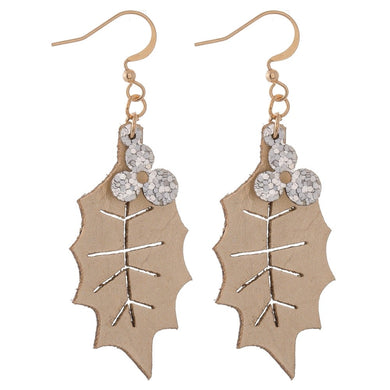 Glitter Two Tone Christmas Earrings
