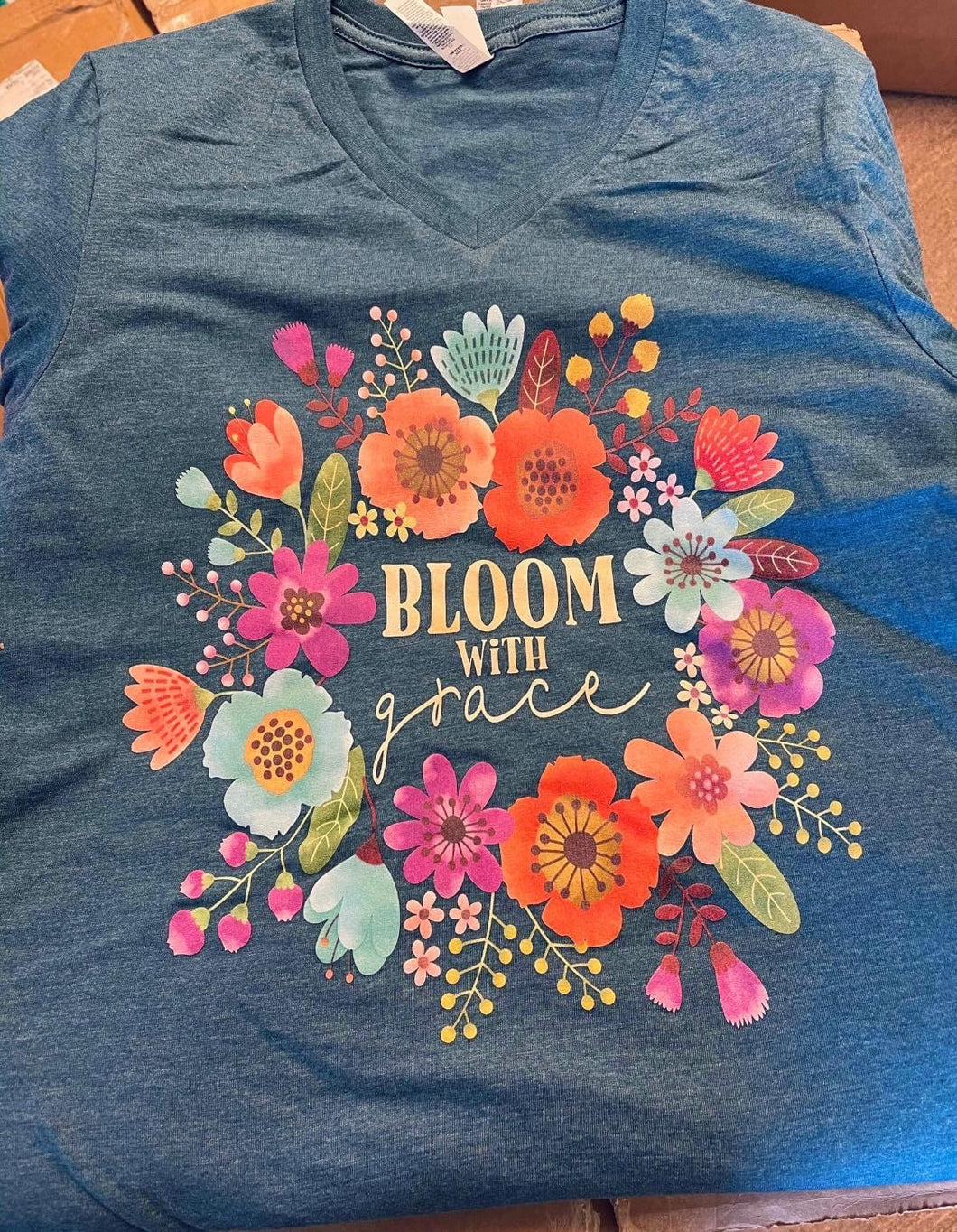 Gorgeous Bloom With Grace Flower Tee