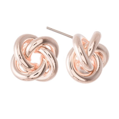 Modern Meets Classic Knot Stud Earring