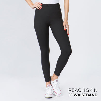 Solid Peach Skin Leggings