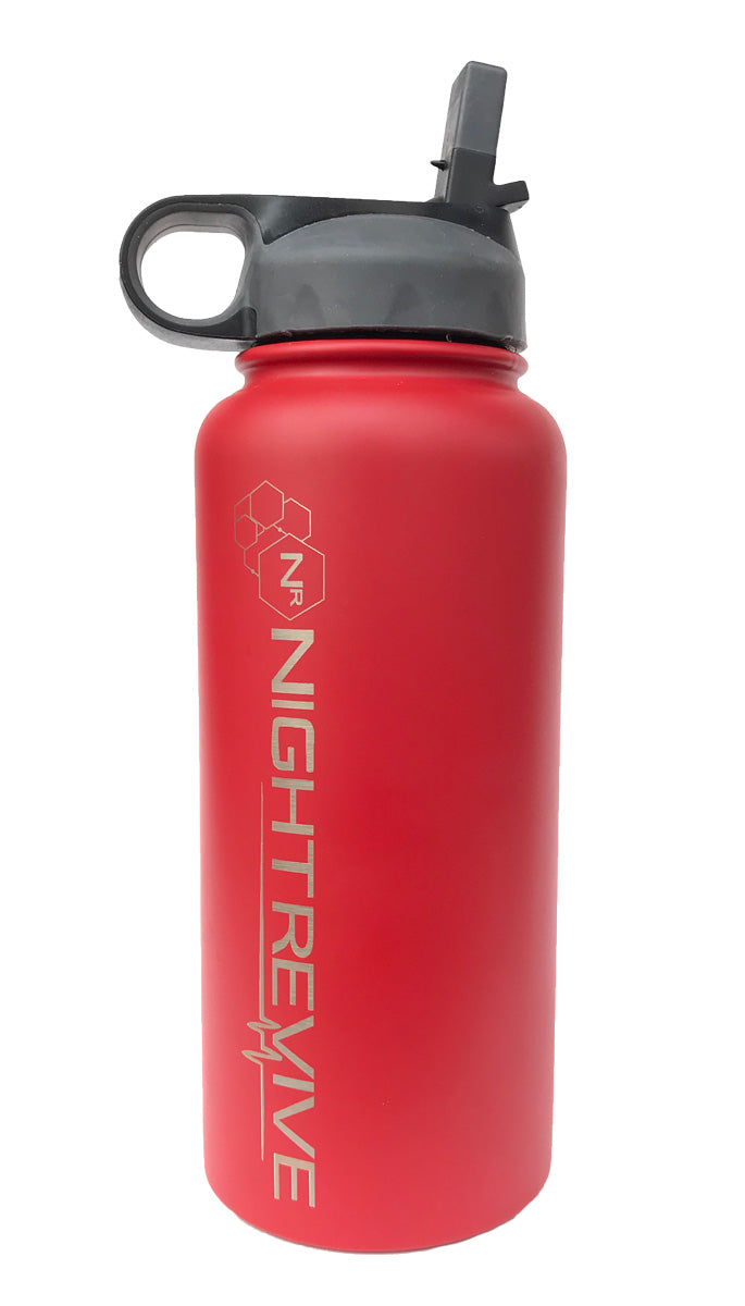 Night Revive Insulated Stainless Steel Bottle with Wide Mouth Straw Lid