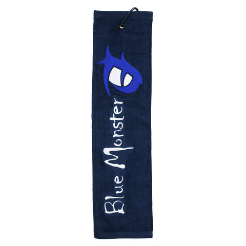 Blue Monster 'Eye' Trifold Golf Towel Navy