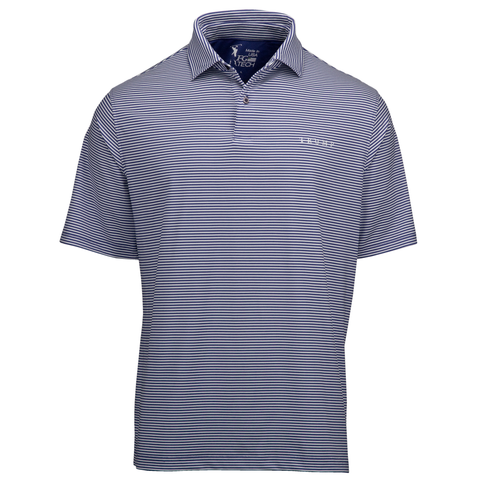 Owens Stripe Tech Polo - Marine - Marine Stripe