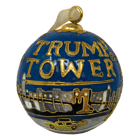 Trump Tower Cloisonne Ornament