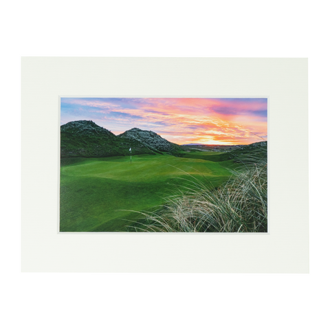 Trump Doonbeg Hole #5 Matted Print