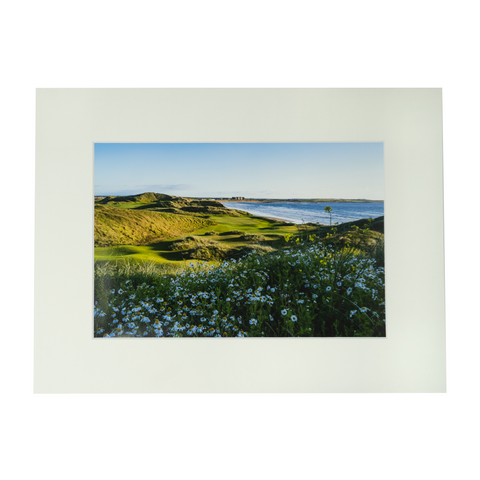 Trump Doonbeg Hole #14 Flowers Matted Print